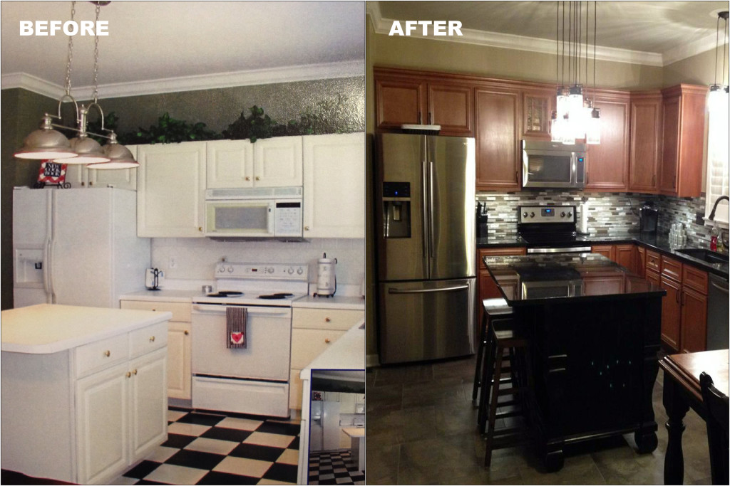 Before U0026 After Kitchen Remodel, Wildwood, MO Kountry Wood Products  Cabinetry With Granite Countertops