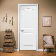 Bentley Interior White Primed Flush Door With 1 2 Horizontal 3