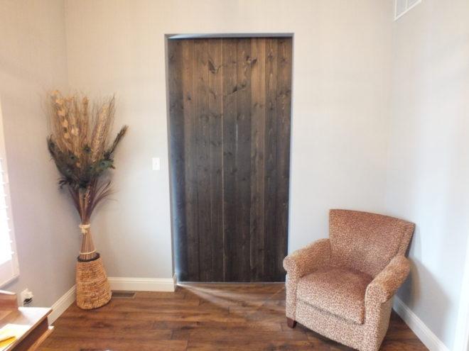 Sliding Barn Door Interior Side